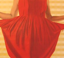 My pockets may be empty but my dress is red and pretty by Anna  Goodhind
