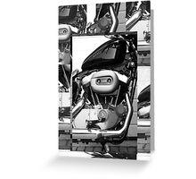Harley Engine Mashup Greeting Card