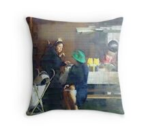 The Conversation ( Trailer Park America Series) Throw Pillow