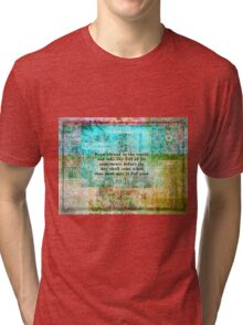 Inspirational Saadi quote about travel Tri-blend T-Shirt