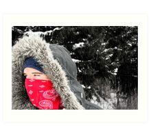 Snow Gazing Art Print