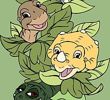 The Land Before Time Gang by steffirae