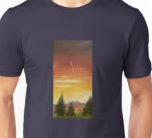 sunset and the shooting star  I Unisex T-Shirt