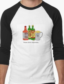 Please Drink Responsibly. Men's Baseball ¾ T-Shirt