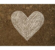 Chalk Heart  Photographic Print