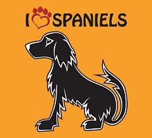 I <3 Spaniels Unisex T-Shirt