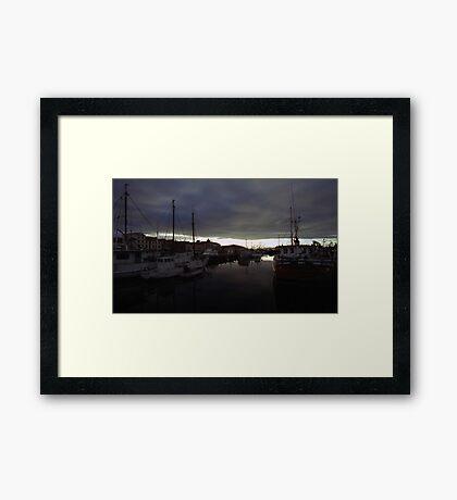 Hobart Harbour Sunrise Framed Print