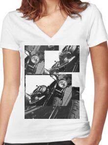 Harley Mashup Women's Fitted V-Neck T-Shirt