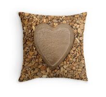 Pebble Heart Throw Pillow