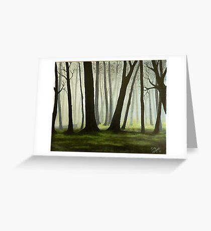 Misty forrest Greeting Card