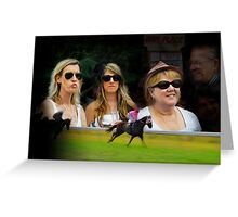 A Day at the Races Greeting Card