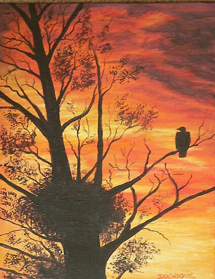 eagle by sunset by Dan Wagner