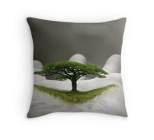 In the Palm of Your Hand Throw Pillow