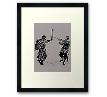 For victory wear a t-shirt: Medieval knights fight! Framed Print