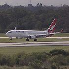 Qantas 737 Landing by Stephen Horton