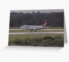 Qantas 737 Landing Greeting Card