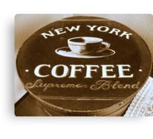 New York Coffee Canvas Print