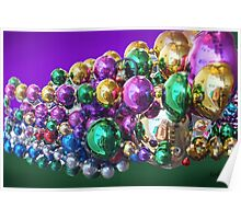 Colourful Baubles Poster