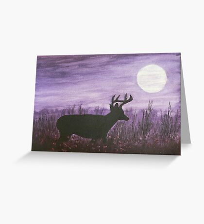 Moon light walk Greeting Card