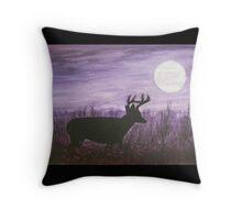 Moon light walk Throw Pillow