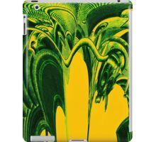 Psychedelic Green Aliens iPad Case/Skin