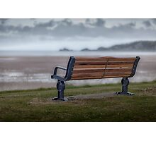 Mumbles memorial bench Photographic Print