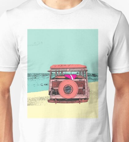 Woody at the Beach - 1 Unisex T-Shirt