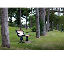 Mumbles Remembrance bench Photographic Print