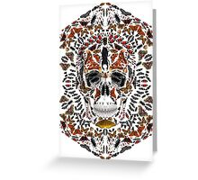 INSECTS SKULL Greeting Card