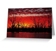 Menindee Lakes. N.S.W.  Australia Greeting Card
