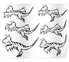Multi Velociraptures Poster