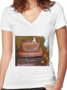 I'm The King Of The Castle-Somerset UK Women's Fitted V-Neck T-Shirt