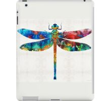 Colorful Dragonfly Art By Sharon Cummings iPad Case/Skin