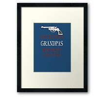 GUNS DON'T KILL PEOPLE Framed Print