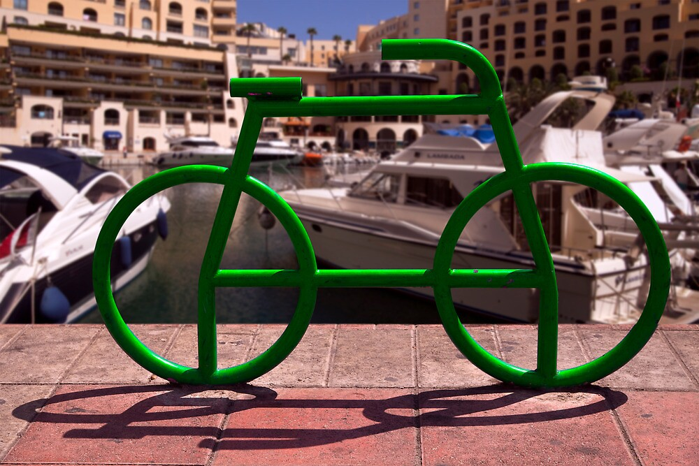 Green Tube Bike in Malta by John Rocha