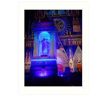 Fountain St John baptising Jesus Art Print