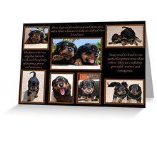 Rottweiler Memories Greeting Card
