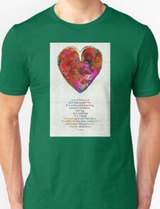 Red Heart Art - Love Is - By Sharon Cummings T-Shirt