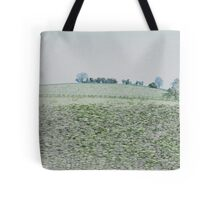 Cotswolds View From A Car Window Tote Bag