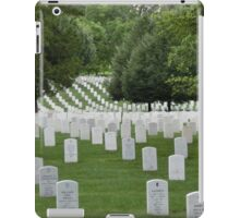 Military cemetery Washington DC iPad Case/Skin