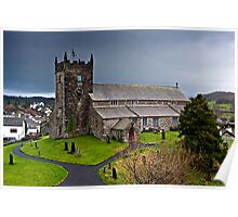 Hawkshead Church, Cumbria Poster
