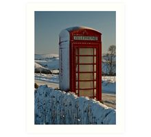 A lonely phone box Art Print
