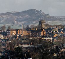 Leek as seen from the Ladderedge Country Park by Brett Trafford