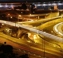Freeway at night by Dave Winter