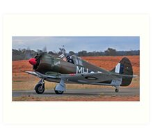 Boomerang, WW2 Australian Fighter Art Print