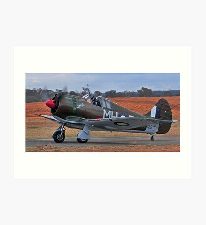 Boomerang, WW2 Australian Fighter Art Print