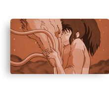 Haku and Chihiro - Spirited Away Canvas Print