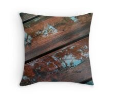 Leaf Reflections on the Deck Throw Pillow