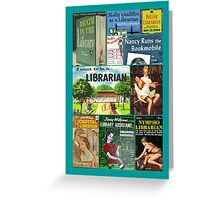 Librarians on Books Greeting Card