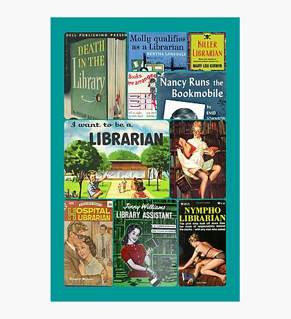 Librarians on Books Photographic Print